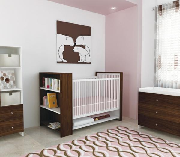 Cuarto De BebÉ En Rosa Y Blanco: Habitaciones Con Estilo: HABITACIÓN DE BEBÉ EN CHOCOLATE Y