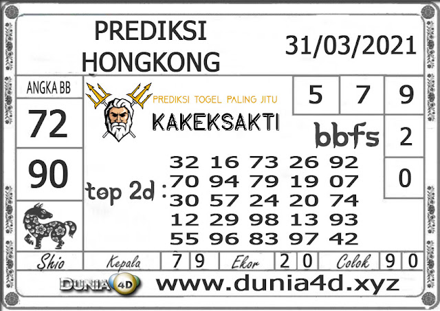 Prediksi Togel HONGKONG DUNIA4D 31 MARET 2021