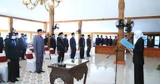 38 Pejabat Ekselon III dan IV Dilantik Bupati Tantriana Sari
