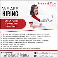 We Are Hiring at House of Dura Surabaya September 2021