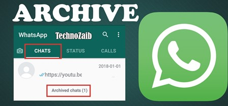 In WhatsApp, you can choose to archive a message.