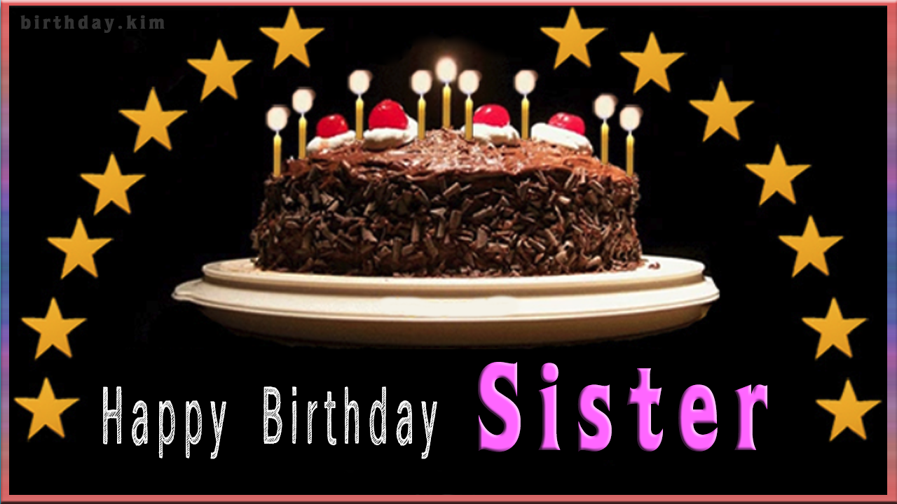 Happy Birthday Sister Cake Happy Birthday Greeting Cards