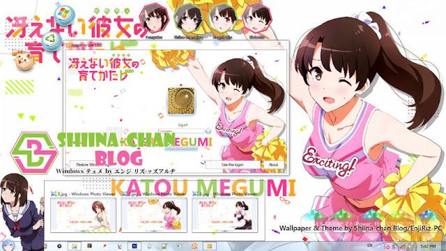 Saenai Heroine no Sodatekata - Katou Megumi Theme Win 7 by Enji Riz Lazuardi