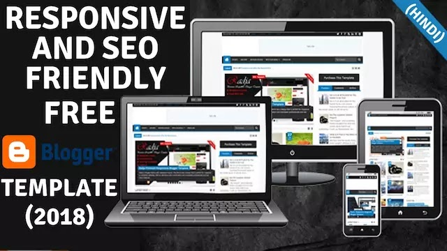 Best 7 Responsive SEO Friendly and Mobile Friendly Blogger Template free 2018 (Hindi)