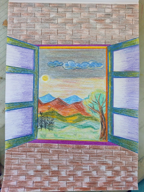 Window scene Drawing image