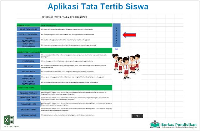 Download Aplikasi Tata Tertib Siswa Lengkap Dengan Info Grafik Perkembangan Microsoft Excel