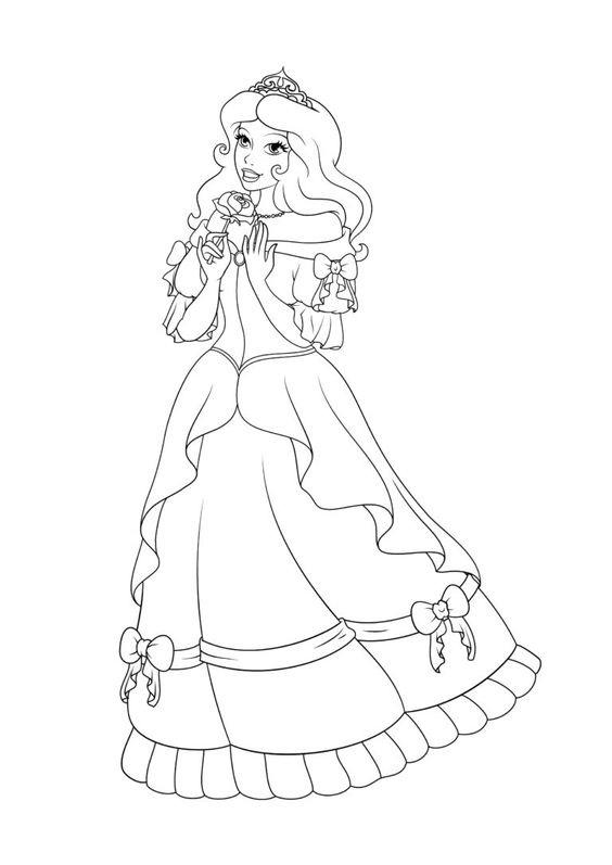 Hình tô công chúa yêu kiều