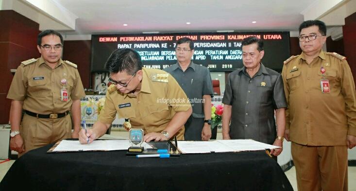 Gubernur dan DPRD Setujui Ranperda Pertanggungjawaban APBD 2018