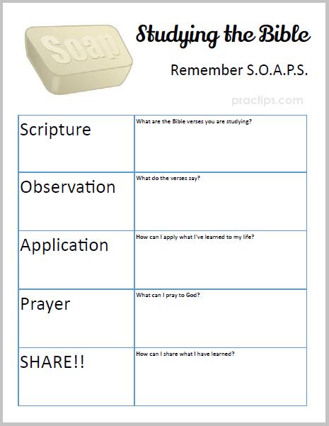photo regarding Soap Bible Study Printable identified as Practips: Contemporary Printable: Bible Review SOAPS