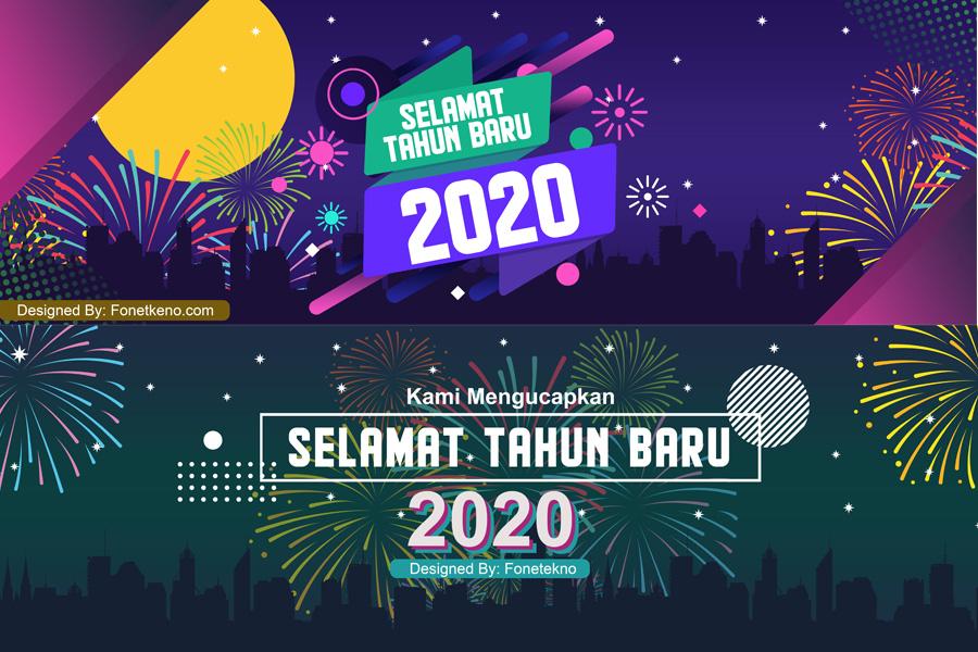 Download Gratis Banner Spanduk Ucapan Selamat Tahun Baru 2020 Fone Tekno