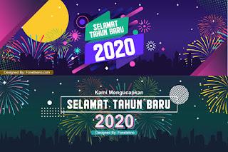 Banner Spanduk Ucapan Selamat Tahun Baru 2020