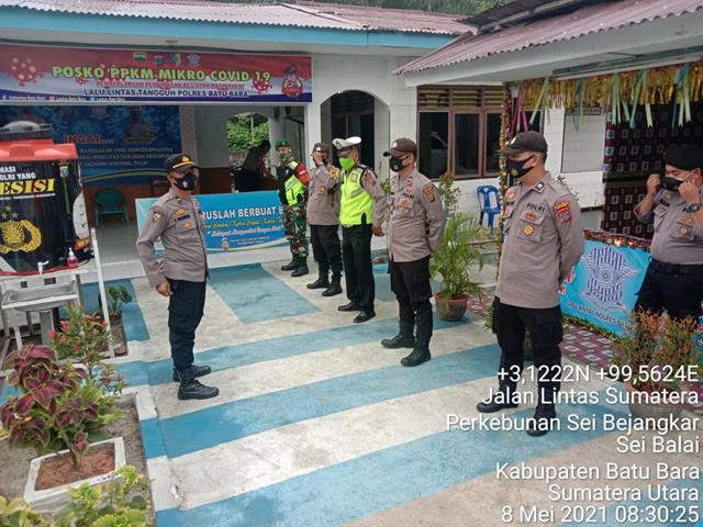 Personil Jajaran Kodim 0208/Asahan Jalin Sinergitas Dengan Instansi Terkait Dalam Melaksanakan Pos PAM