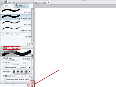 Cara Membuat Ujung Brush Tajam atau Lancip di Clip Studio Paint dan manga studio