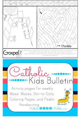 Catholic Kids Bulletin Coloring Page Luke 14.1-14