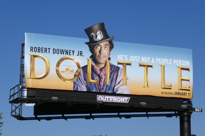 Dolittle movie billboard