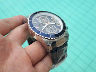 Jam Tangan Pria Alexandre Christie AC6455 AC 6455 Original Silver Blue Stainless Steel ALC005 Like New