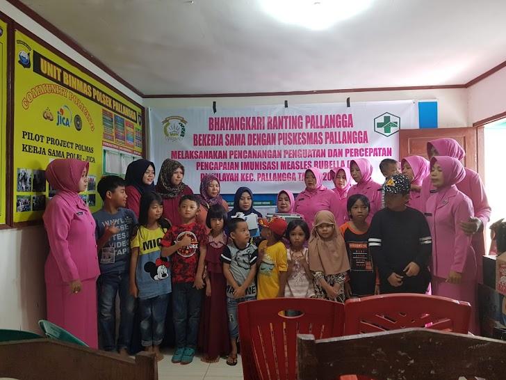 Bhayangkari Ranting Pallangga Hadirkan Anak Anak di Polsek Pallangga