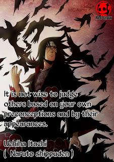 Uchiha Itachi (  Naruto shippuden ) anime quotes