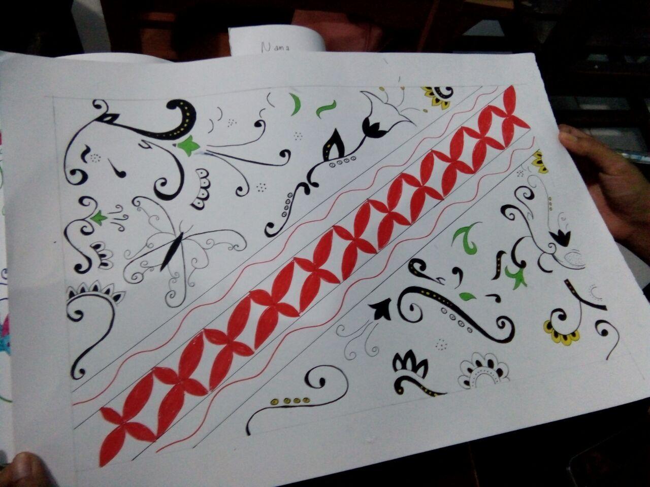 Cara Menggambar Batik Di Buku Gambar A3 Semburat Warna