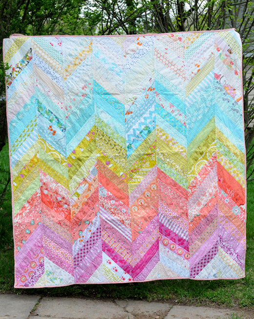 Sunny Herringbone Quilt Designed by Jodie of Persimmon and Pear, The Tutorial by Maureen of Maureen Cracknell Handmade