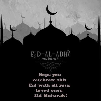 Hope you celebrate this Eid with all your loved ones. Eid Mubarak!