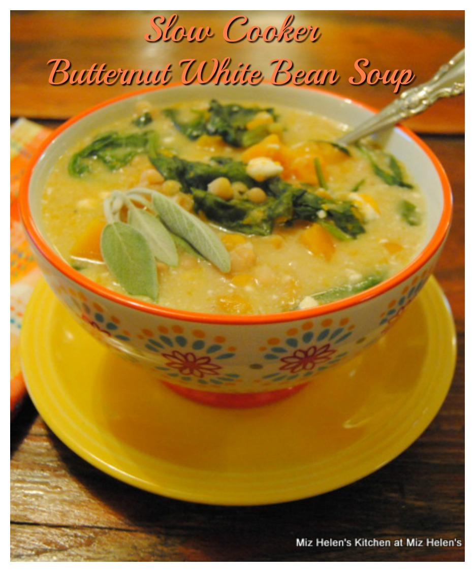 Slow Cooker Butternut White Bean Soup