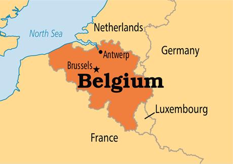 Belçika Komşuları Harita