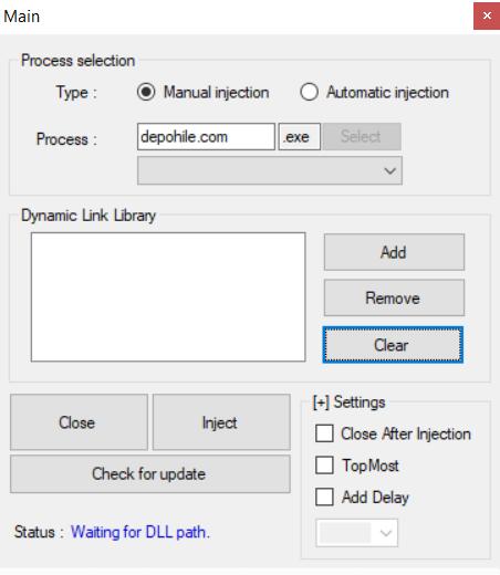 SAZ DLL Injector Programı İndir 2019 (32 ve 64 Bit Uyumlu)