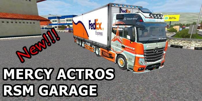 download mod bussid truck mercy actros box terbaru