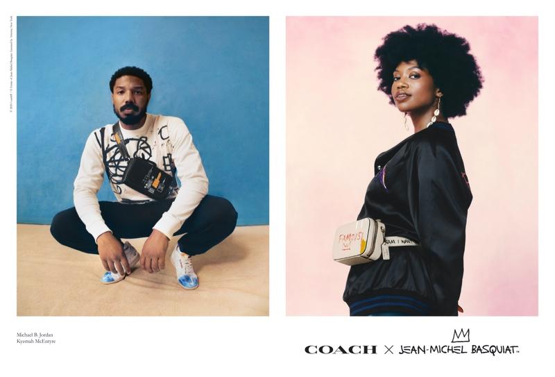 Michael B. Jordan and Kyemah McEntyre front Coach x Jean-Michel Basquiat campaign.