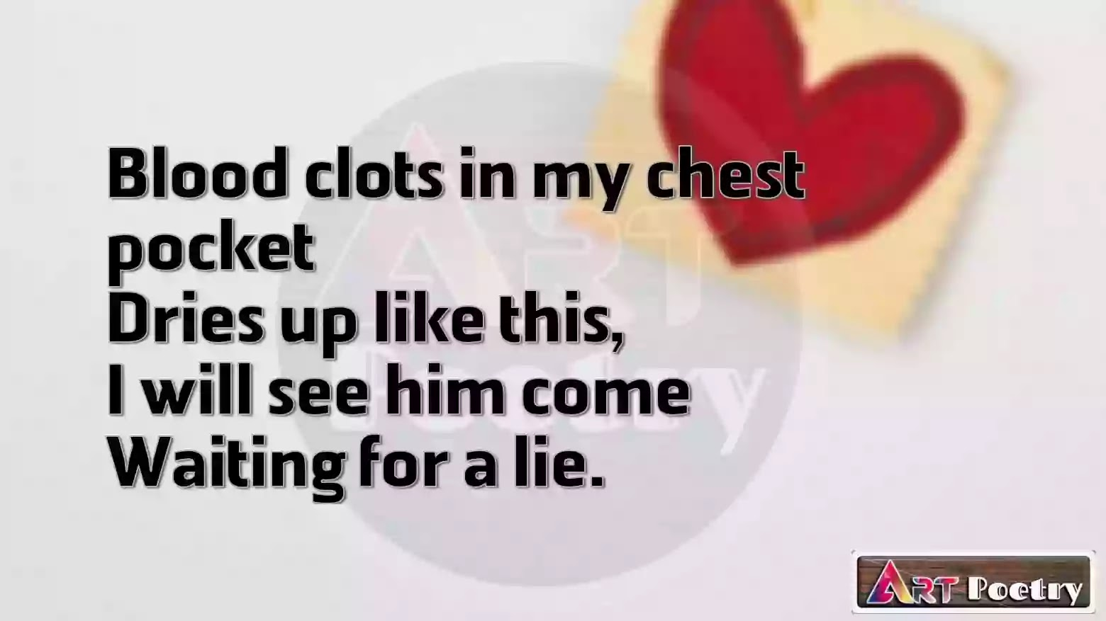 Broken heart Quotes   love heart break quotes   heart break   heart break quotes images quotes   Blood clots in my chest pocketDries up like this,I will see him comeWaiting for a lie.