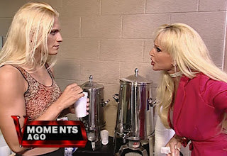 WWE / WWF Invasion 2001 PPV - Debra and Sara 'Taker discuss what a pervert Diamond Dallas Page is