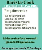 Info Loker Surabaya di Ijjo Cafe 30 Agustus 2020