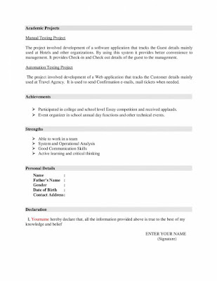 Mechanical Resume Format 2