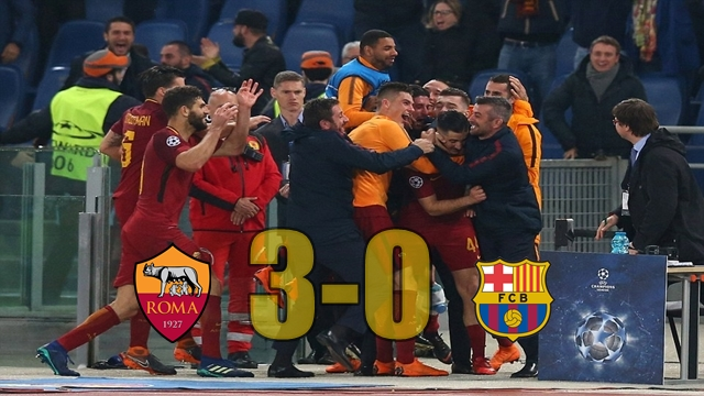 Roma 3 – 0 Barcelona Champions League Match Report ...