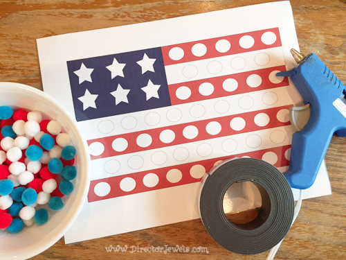 Director Jewels Free Printable American Flag Magnetic Pom