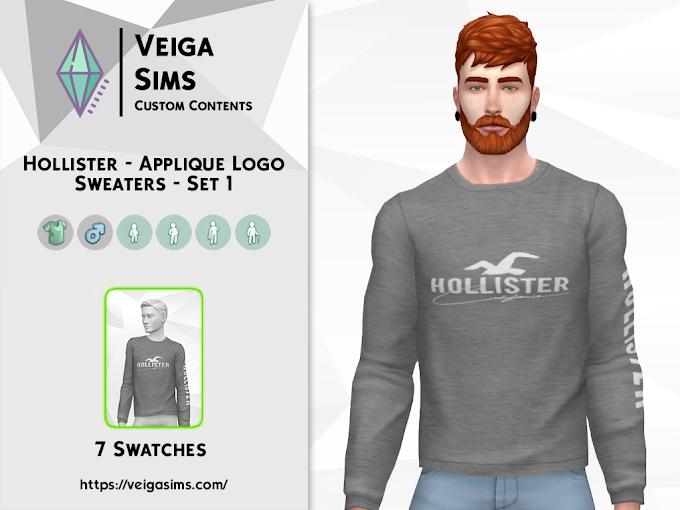 Hollister - Applique Logo Sweaters - Set 1