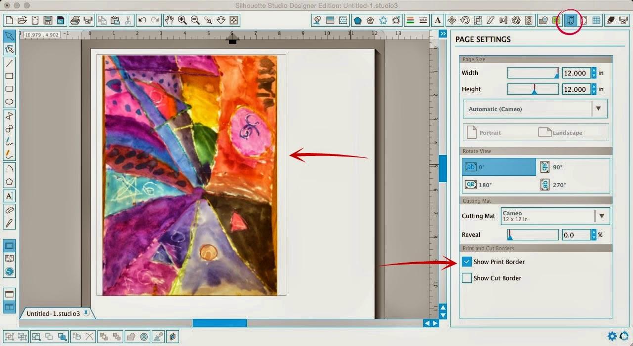 Silhouette tutorial, custom puzzle magnet, DIY, do it yourself, Silhouette Studio, show print border