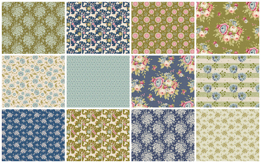 Tilda Fabric Collections 2016: Candy Bloom Limited, Pardon my Garden and Spring Diaries