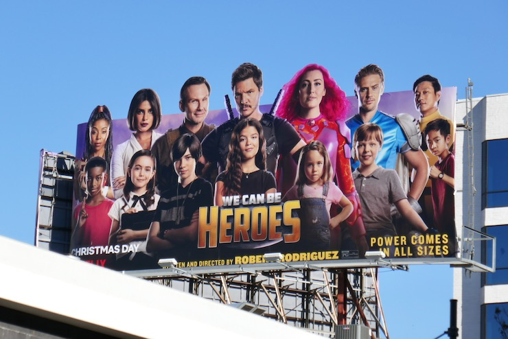 We Can Be Heroes movie billboard