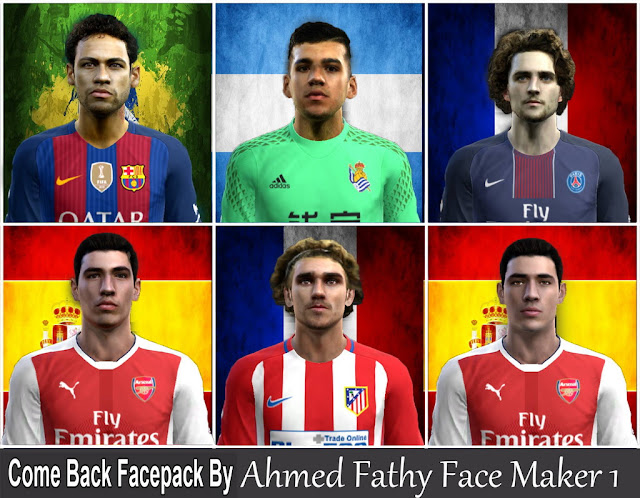 PES 2013 Come back facepack by Ahmed Fathy Face Maker1