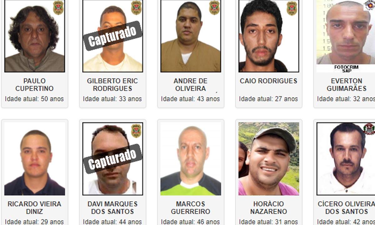 Conheça os dez criminosos mais procurados pela Polícia Civil de São Paulo