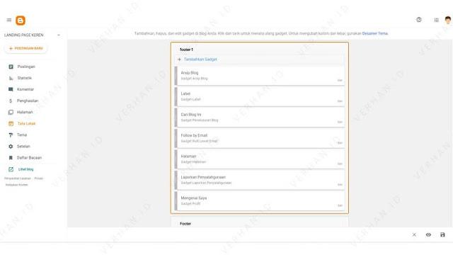 hapus widget blog yang tidak diperlukan