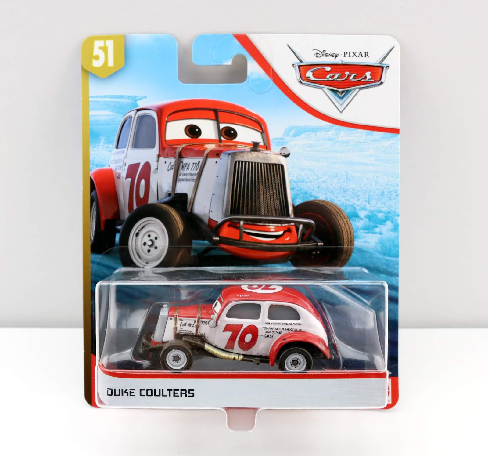 Cars 3 Duke Coulters diecast