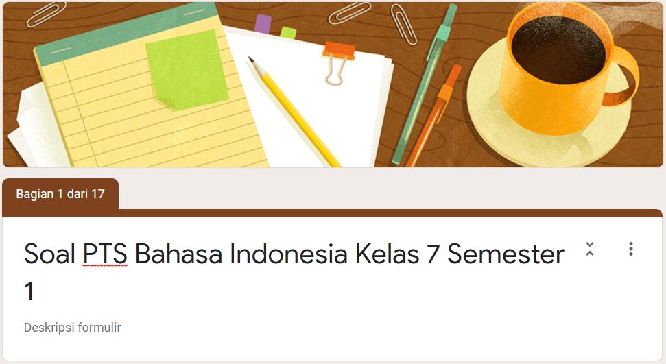 Soal Pts Online Bahasa Indonesia Smp Kelas 7 Kurikulum 2013 Tahun Pelajaran 2020 2021 Didno76 Com