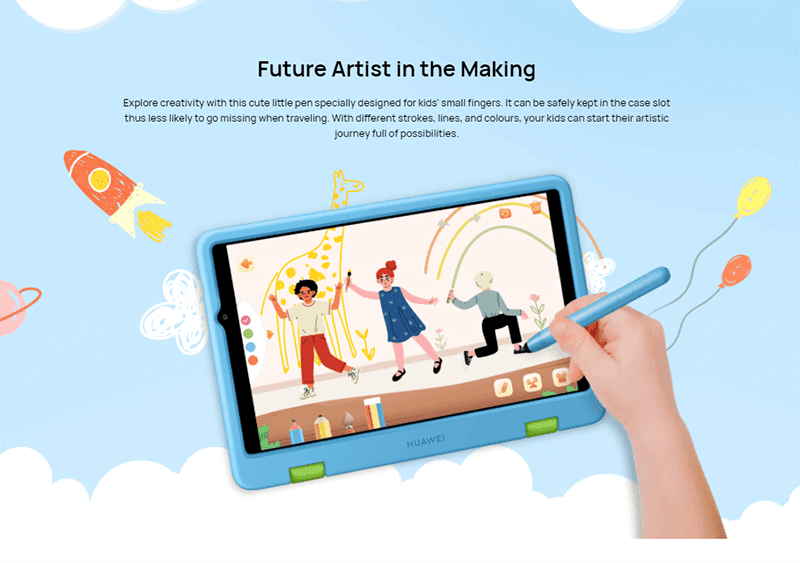 Encourage your kid's creativity with the Stylus Pen and big screen
