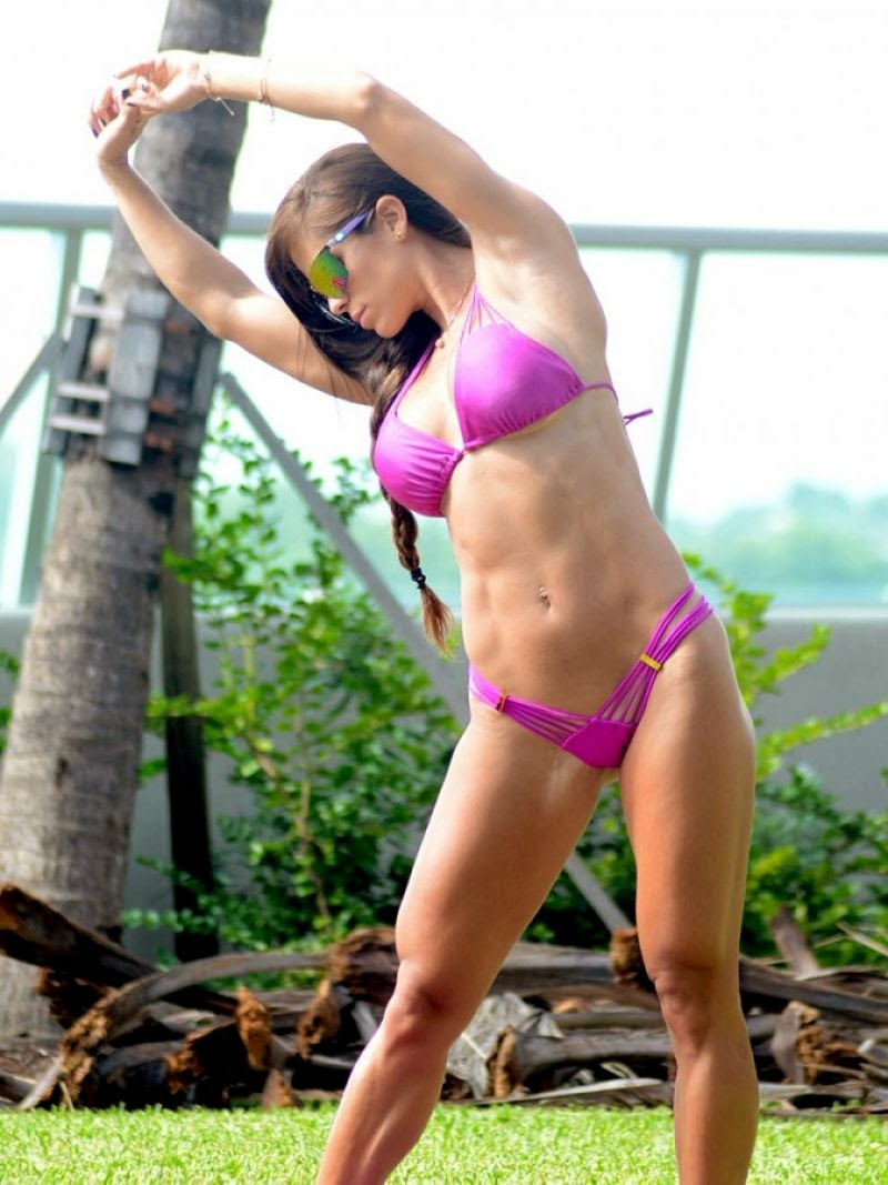 Michelle Lewin – New Year With A Bikini Workout In Miami