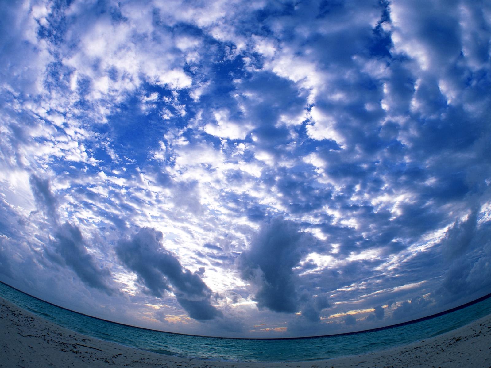 Sky Wallpapers: Free Wallpapers: Unseen Beutiful Sky Water Cloud Hd