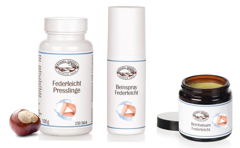 Bärbel Drexel Beinspray Federleicht Review - Federleicht Produkte