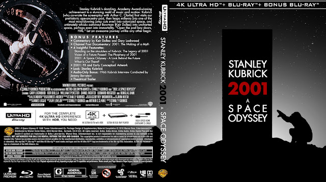 2001: A Space Odyssey 4k UHD Bluray Cover